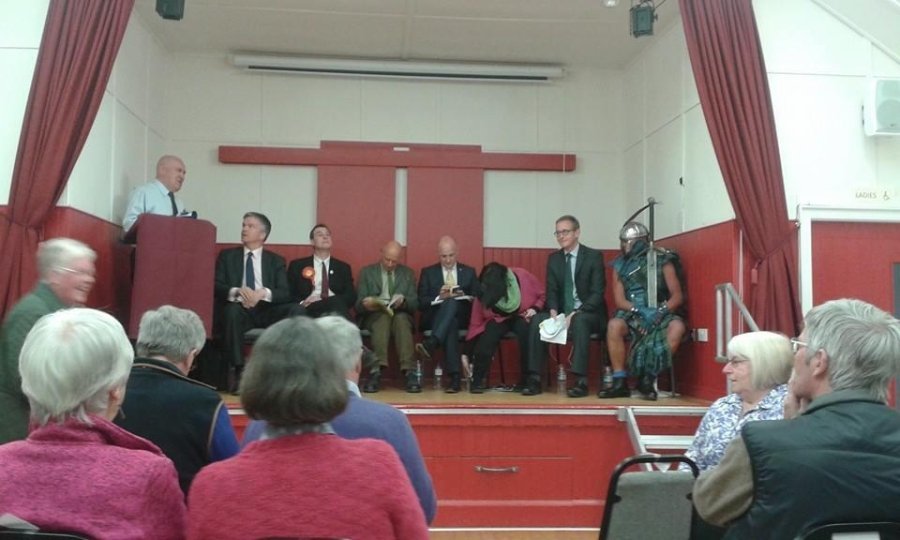 On stage for a different reason. Hustings for the seat of Berwickshire, Roxburgh and Selkirk. Uk General Election 2015